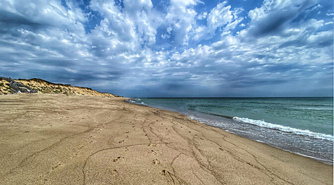 Marconi Beach On Cape Cod In The Early Morn.