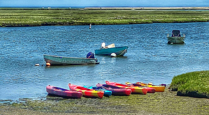 The Kayaks Are Ready And Waiting On Cape Cod.