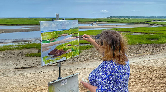 Very Talented Plein Air Painters On Cape Cod.