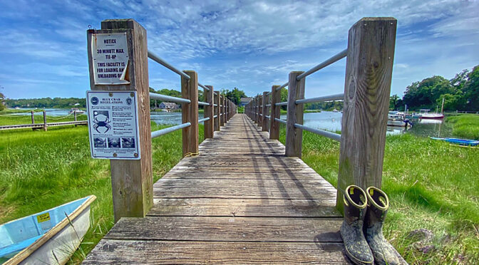 Love This Dock By The River in Orleans On Cape Cod.
