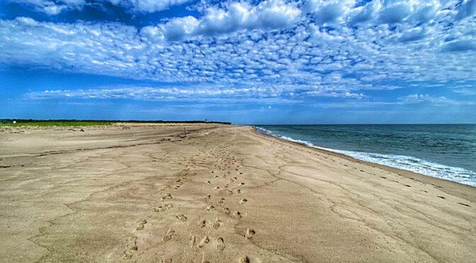Solitude On Coast Guard Beach On Cape Cod.
