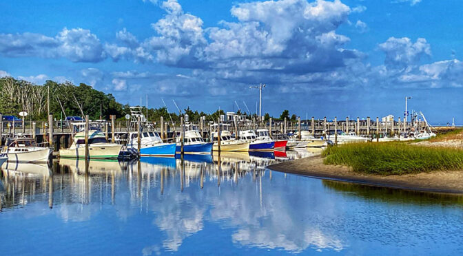 Beautiful Reflection At Rock Harbor On Cape Cod.