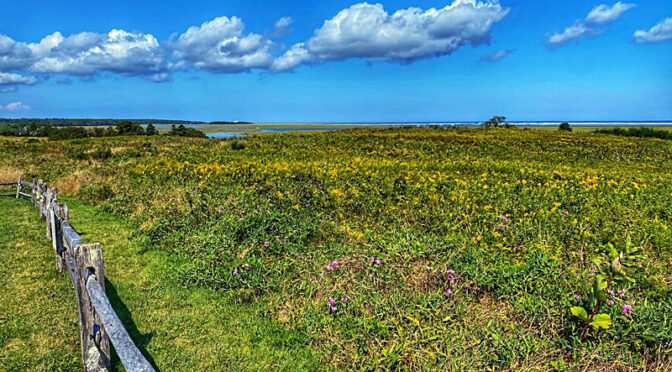 Gorgeous View From Fort Hill On Cape Cod.