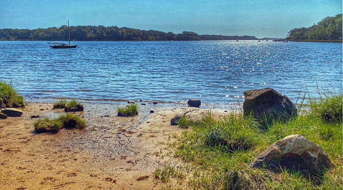 Looking Out Toward Little Pleasant Bay On Cape Cod.