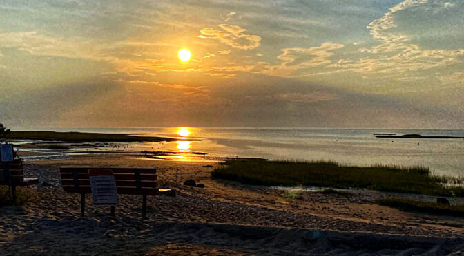 Evening Beach Solitude On Cape Cod.