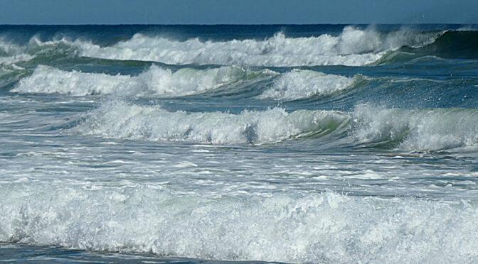 Big Waves At Coast Guard Beach On Cape Cod.