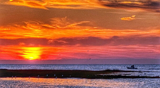 Gorgeous Sunset At Boat Meadow Beach On Cape Cod.