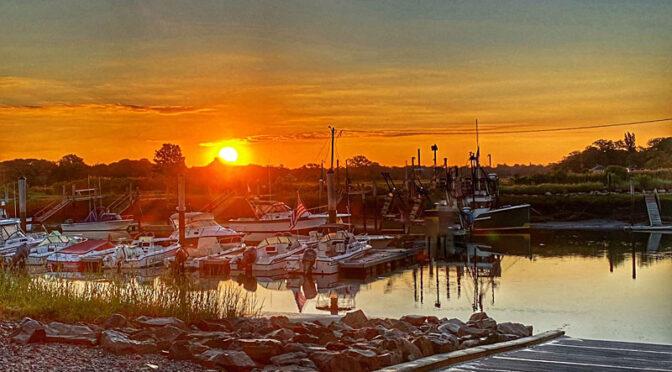 Pretty Sunrise At Rock Harbor On Cape Cod.